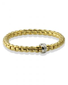 Flexible gold bracelet by Fope
