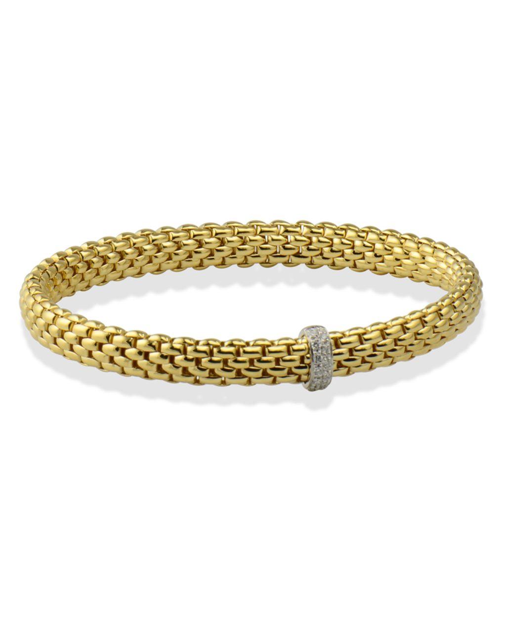 Flexible gold bracelet by Fope
