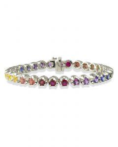 Rainbow color sapphire bracelet