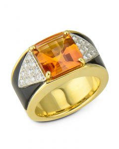 Michael Bondanza designed Citrine ring