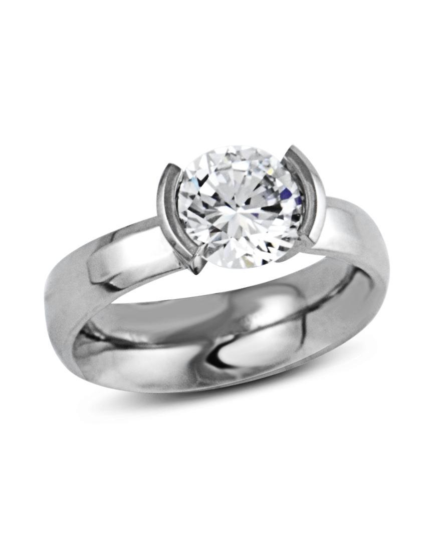 Elara Tension-Set Diamond Engagement Ring Steven Kretchmer