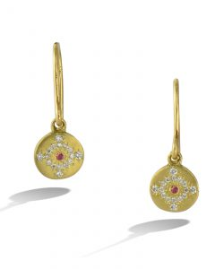 Ruby and diamond 'Shimmer' earrings