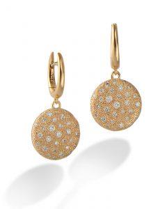 Diamond starry earrings