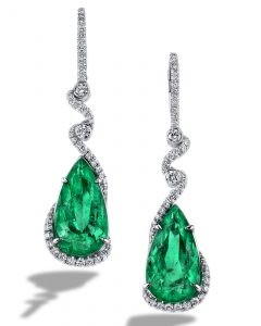 Alluring Colombian Emerald Earrings