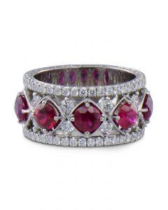 Jack Kelege Ruby and diamond ring