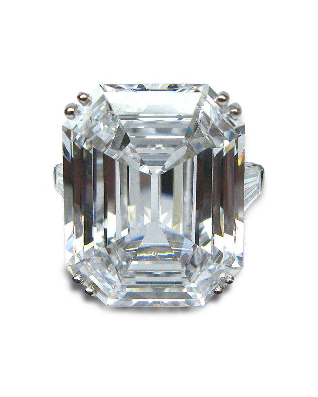Harry Winston D Flawless Emerald Cut Ring