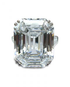 Harry Winston D Flawless Emerald Cut Ring
