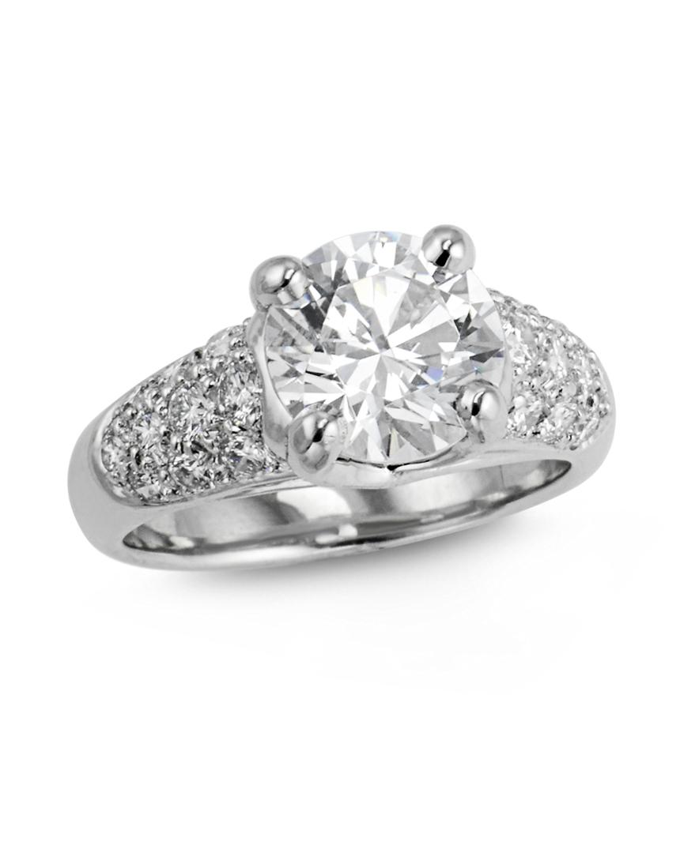 Wide Pave Diamond Engagement Ring Turgeon Raine