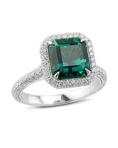 Exceptional Colombian Emerald Ring