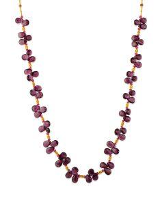 22K Yellow Gold Rhodolite Garnet Necklace