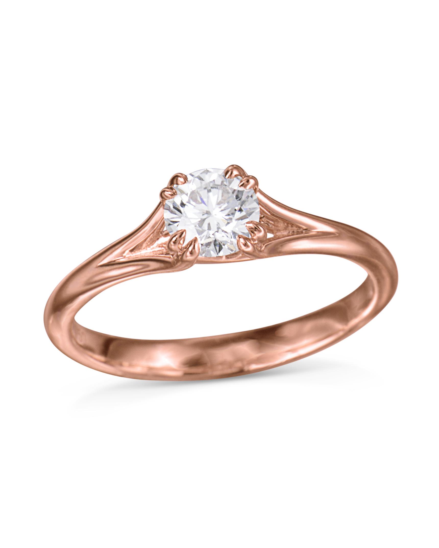 18k Rose Gold Diamond Engagement Ring Turgeon Raine