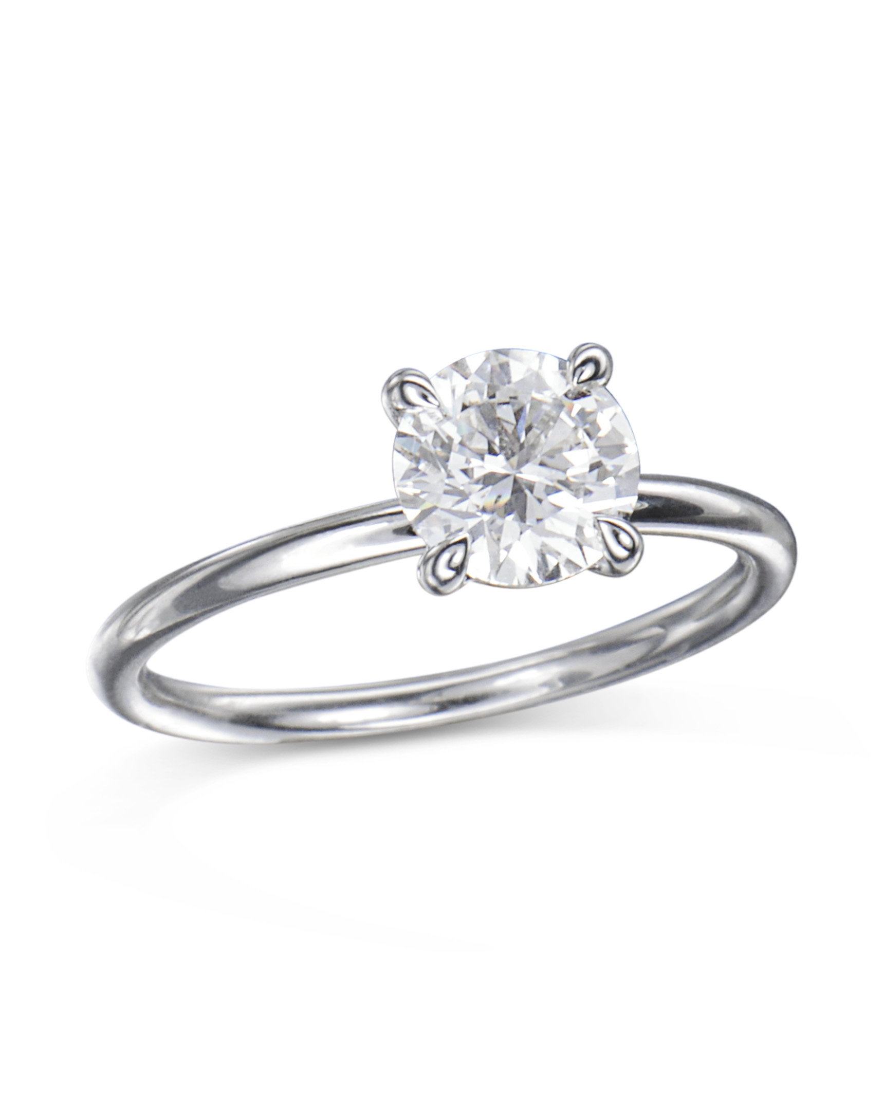 Engagement Rings In Which Hand: Platinum Hand-Made Diamond Engagement Ring