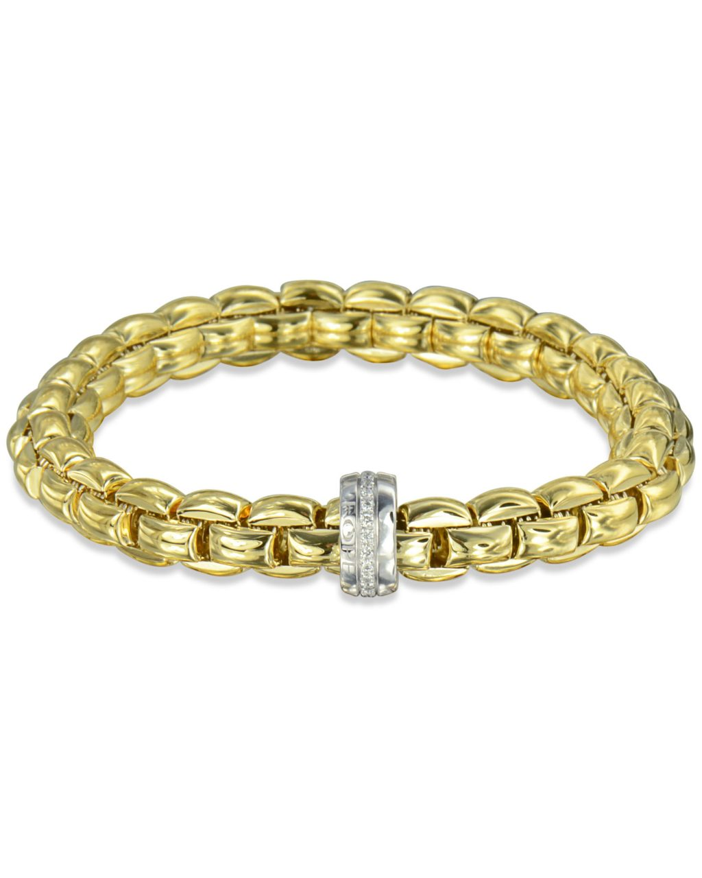 Yellow Gold Flex'it Eka Bracelet by Fope