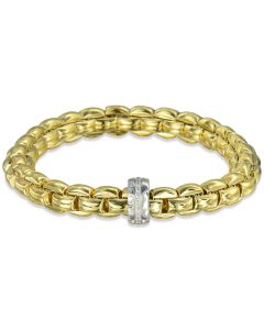 Yellow Gold Flex'it Eka Bracelet by Fope