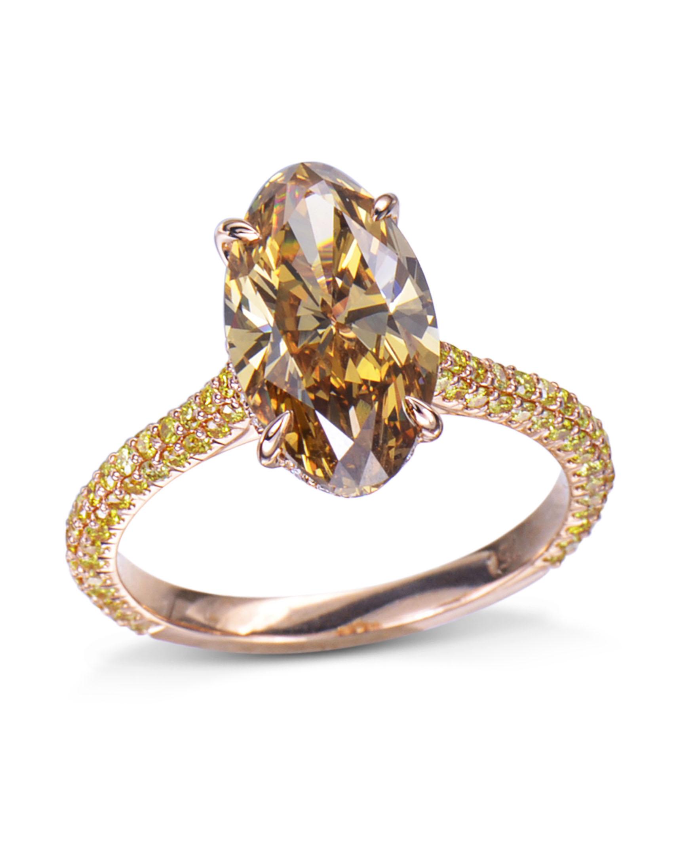 Natural Cognac Colored Diamond Ring - Turgeon Raine
