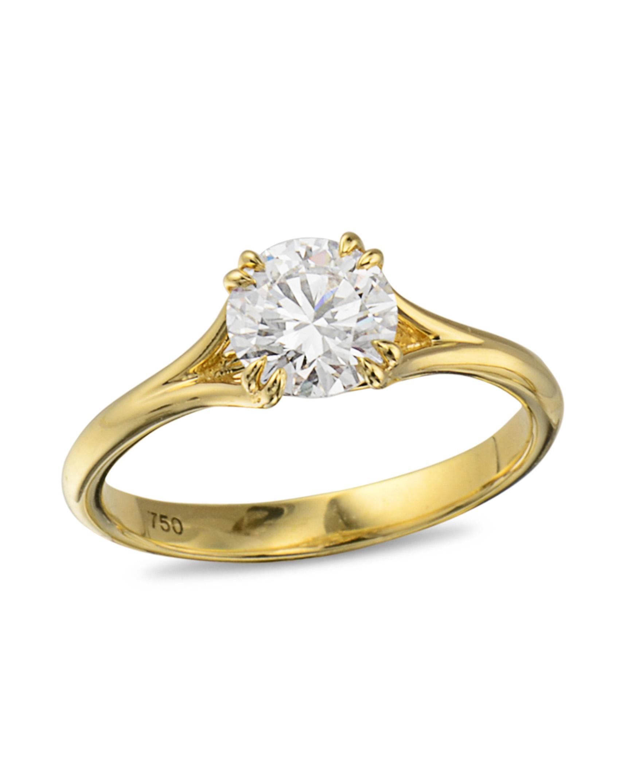 Yellow Gold Diamond Engagement Ring Turgeon Raine