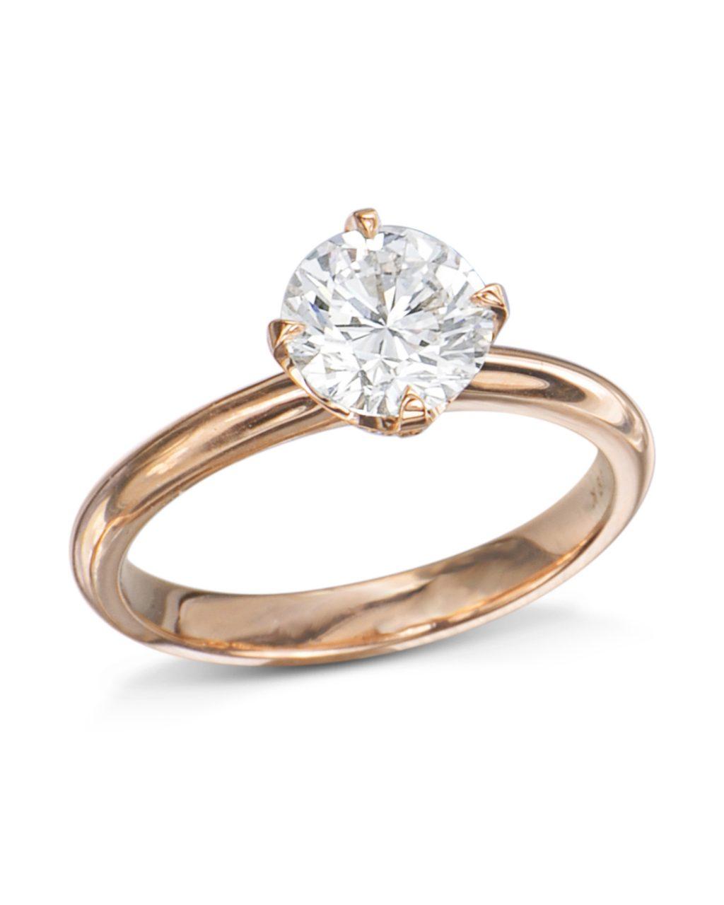 c4e895207 Rose Gold Pavé Cup Diamond Engagement Ring - Turgeon Raine