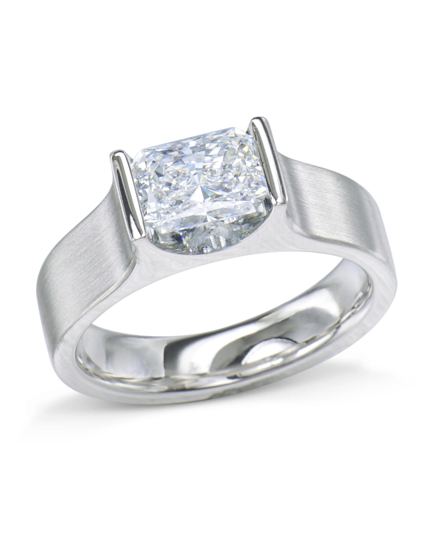 0205ffde8 Platinum Radiant Diamond Engagement Ring - Turgeon Raine