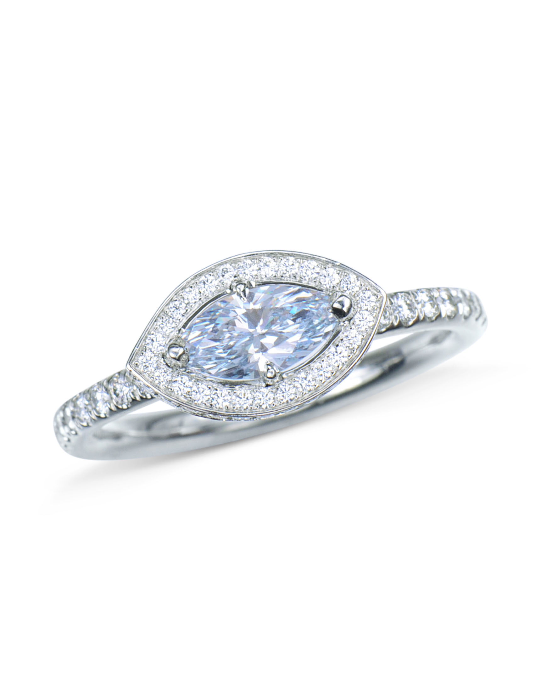 d2527d0c48cd6 Natural Fancy Blue Marquise Diamond Ring