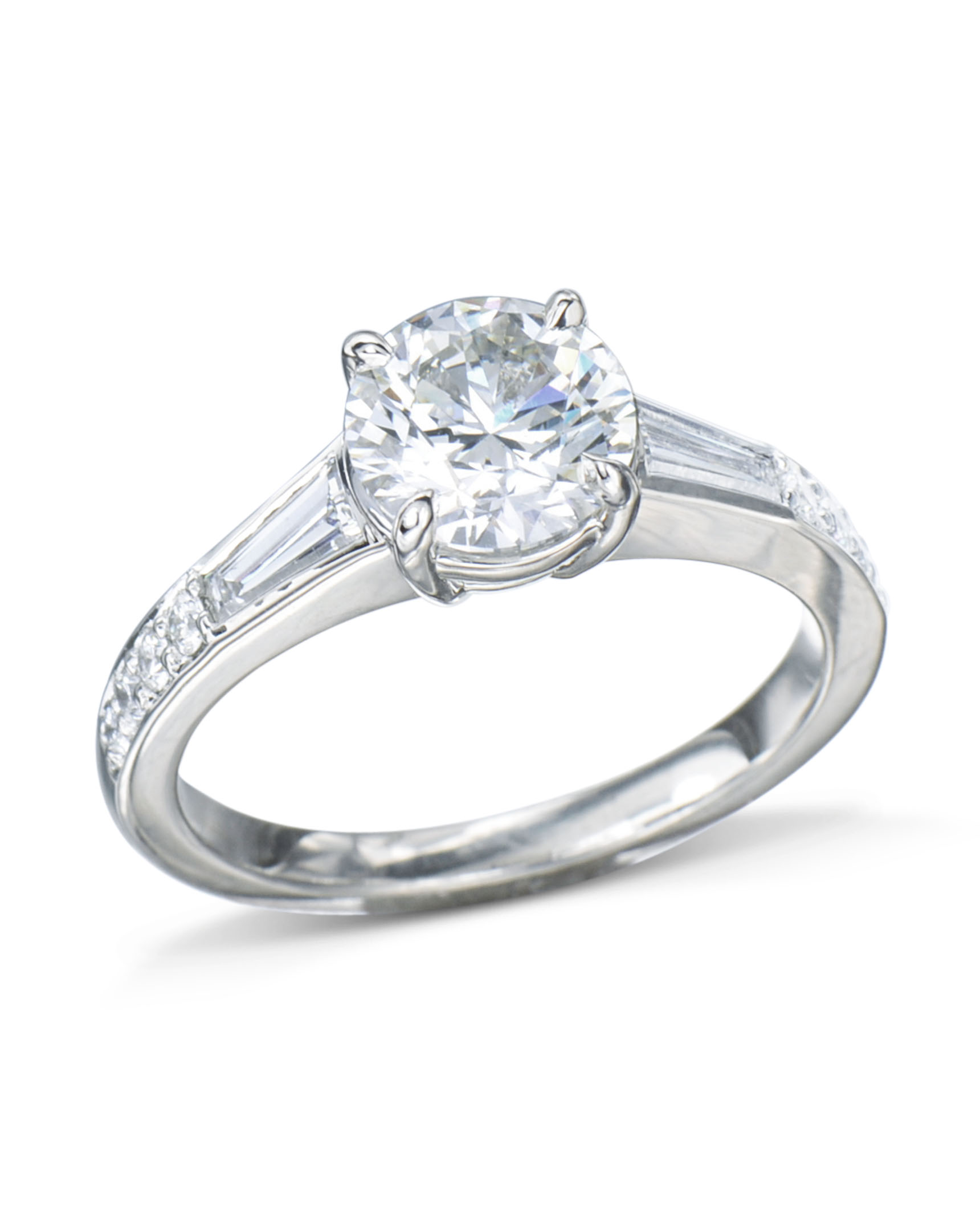 Classic Platinum Diamond Engagement Ring Turgeon Raine
