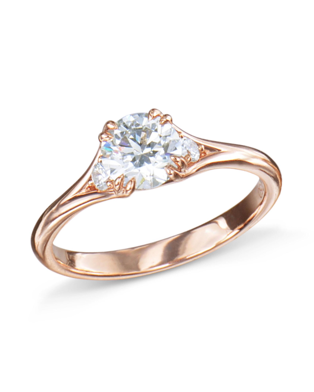 dd1eafa6f Delicate Rose Gold Diamond Engagement Ring - Turgeon Raine