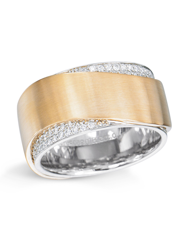 Pave Wedding Band.Rose Gold And Platinum Pave Set Diamond Wedding Band