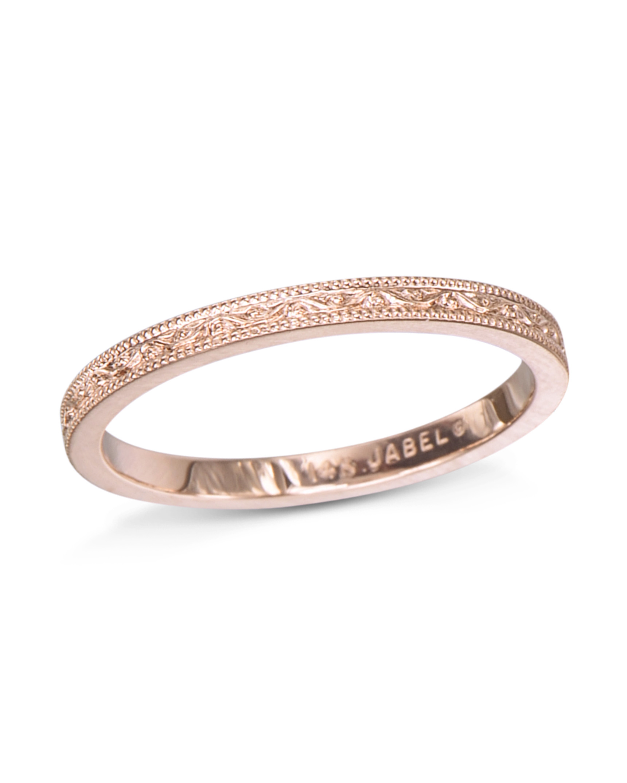 Engraved Rose Gold Band Turgeon Raine