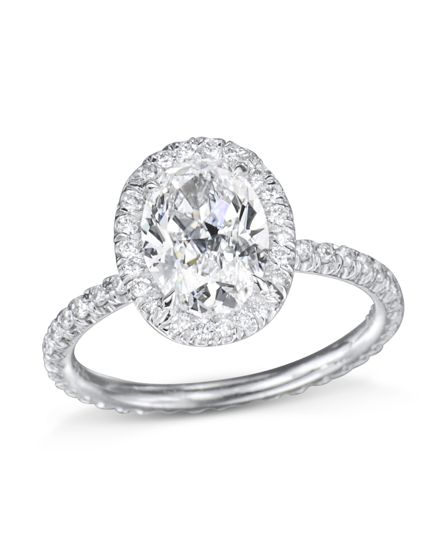 cd5321178468b Oval Diamond Halo Engagement Ring