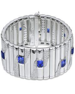 Sapphire and Diamond Metropolitan Bracelet by Michael Bondanza