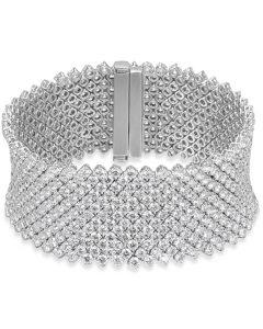 Glamorous 13-Row Diamond Bracelet
