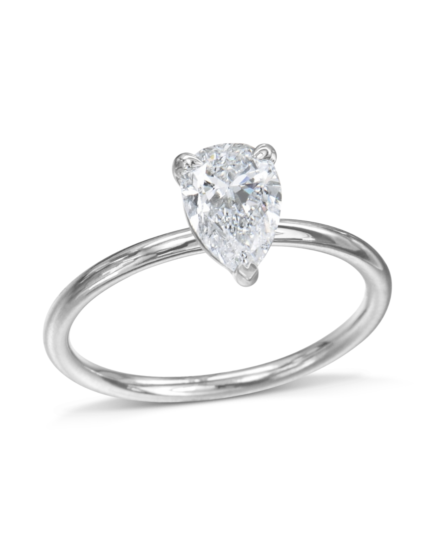 57aa89a5e Classic Pear Shaped Diamond Engagement Ring - Turgeon Raine