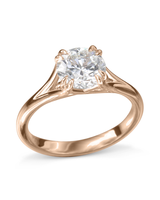 3aa694d83 Classic Rose Gold Diamond Engagement Ring - Turgeon Raine