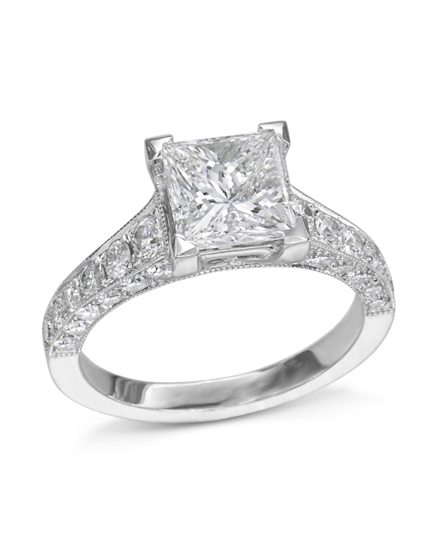 494e4fc358a00 Vintage Inspired Princess Cut Engagement Ring - Turgeon Raine