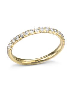 Classic French-Set Diamond Wedding Band