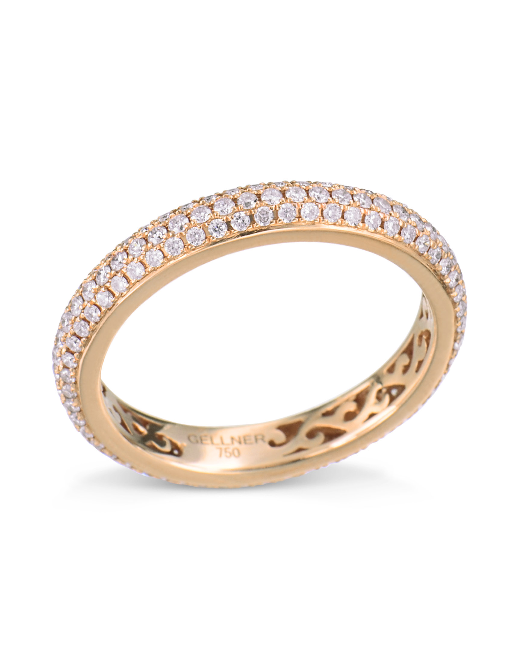 eaef1429c Rose Gold Pink Diamond Eternity Band - HD Image Flower and Rose ...