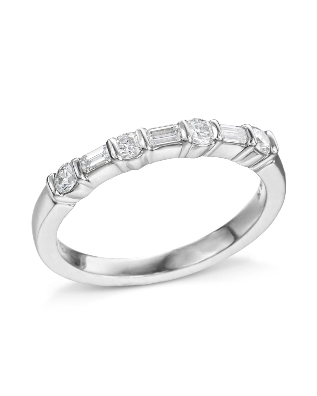 268a949f05291 Round and Emerald Diamond 7-Stone Band