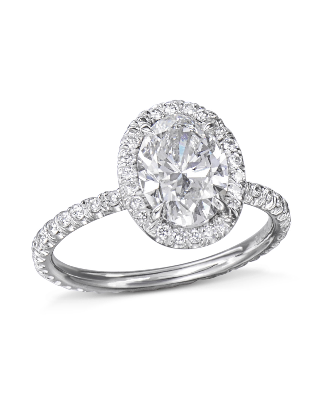 Platinum Oval Halo Diamond Ring Turgeon Raine