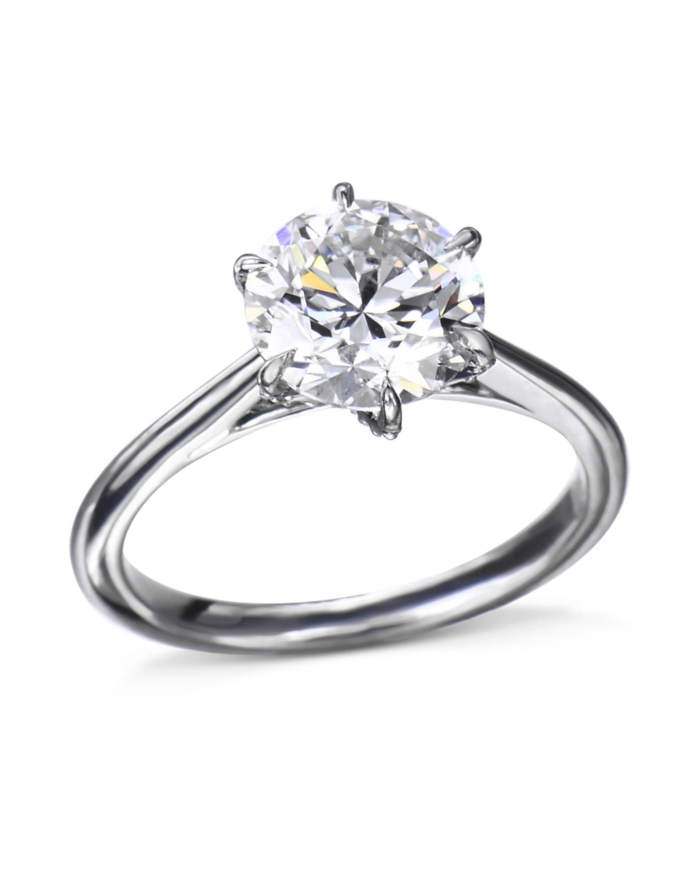 Platinum 6 Prong Diamond Engagement Ring Turgeon Raine