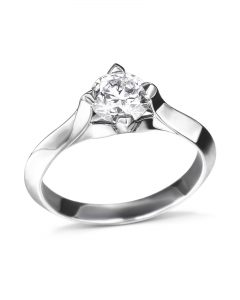 knife-edge compass setting diamond engagement ring