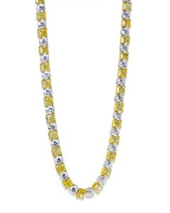Yellow and White Diamond Riviera Necklace