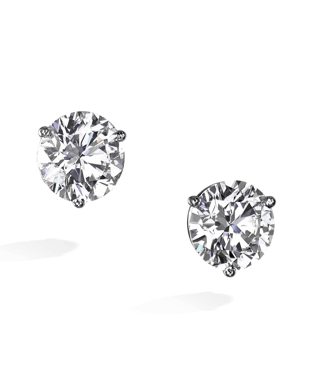 Platinum Diamond Stud Earrings Turgeon Raine
