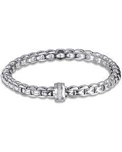 White Gold Flex'it Eka Bracelet by Fope