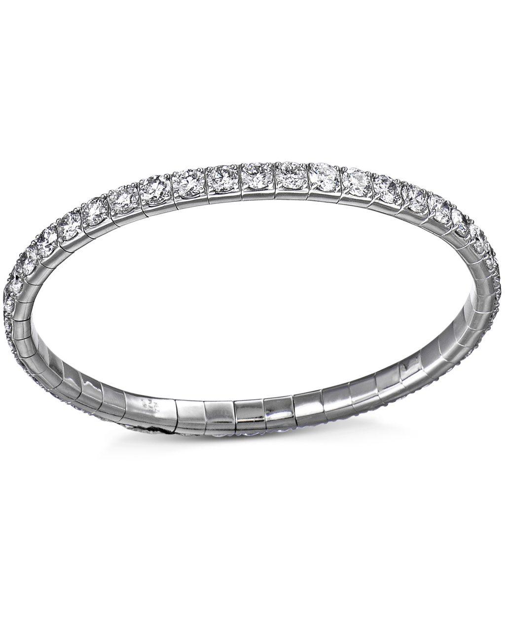 Platinum Diamond Flex Bracelet by Bez Ambar