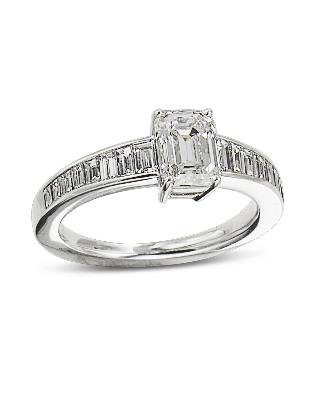 Emerald Cut And Baguette Diamond Engagement Ring Turgeon Raine