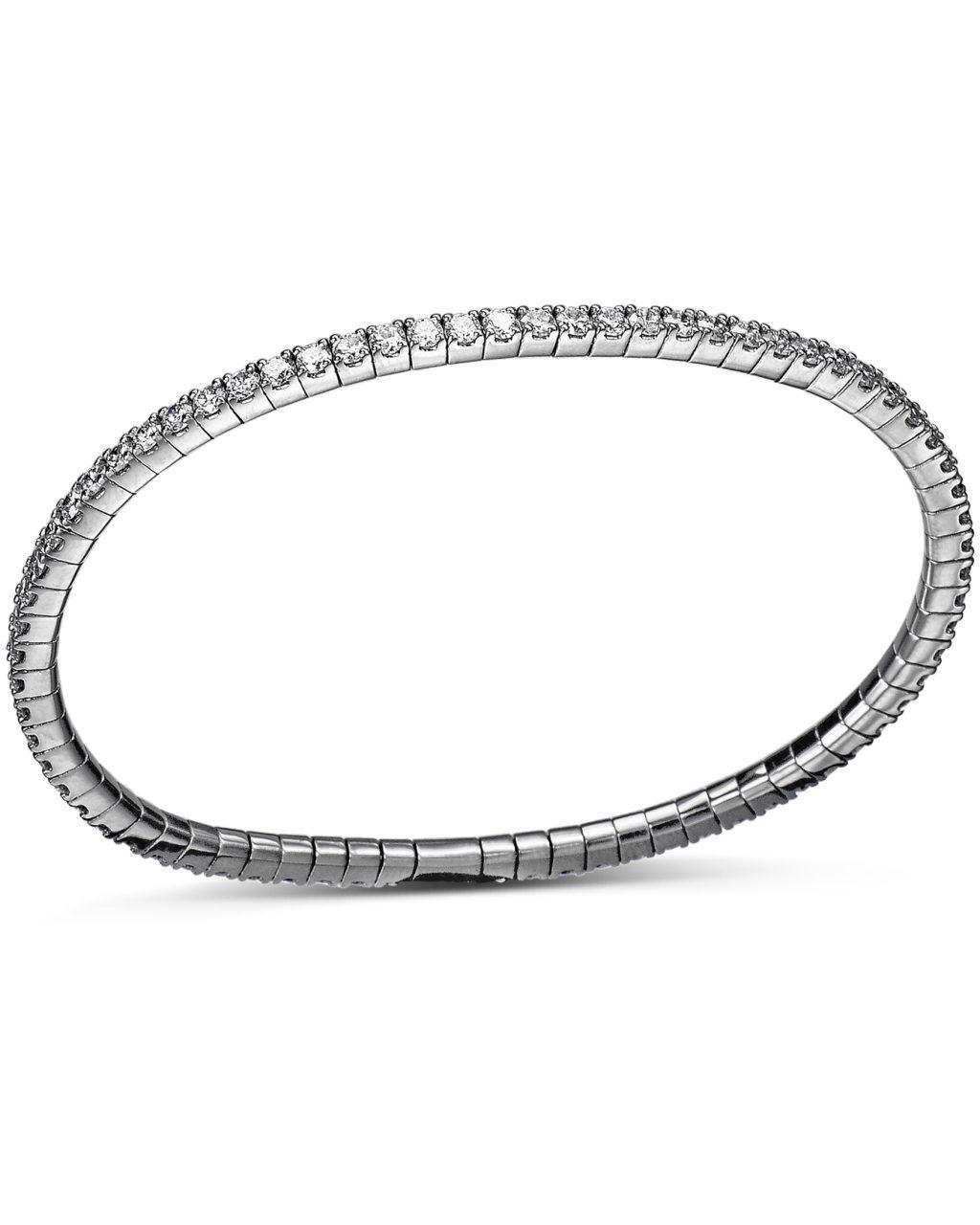 White Gold Diamond Flex Bracelet by Bez Ambar
