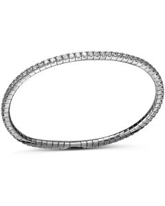 White Gold Diamond Flex Bracelet by Bez Ambar