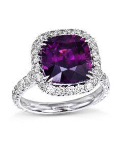 Rare Mozambique Purple Garnet Ring